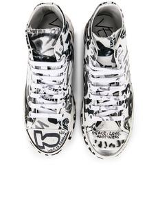 VETEMENTS Graffiti High Top Sneakers