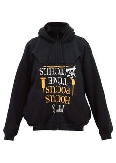 Vetements Halloween-print cotton-jersey hooded sweatshirt