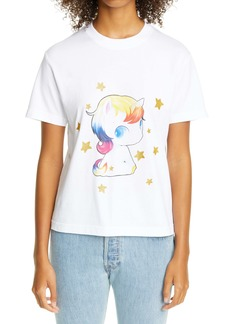 Vetements Heartbreaker Unicorn Graphic Crop Cotton Tee