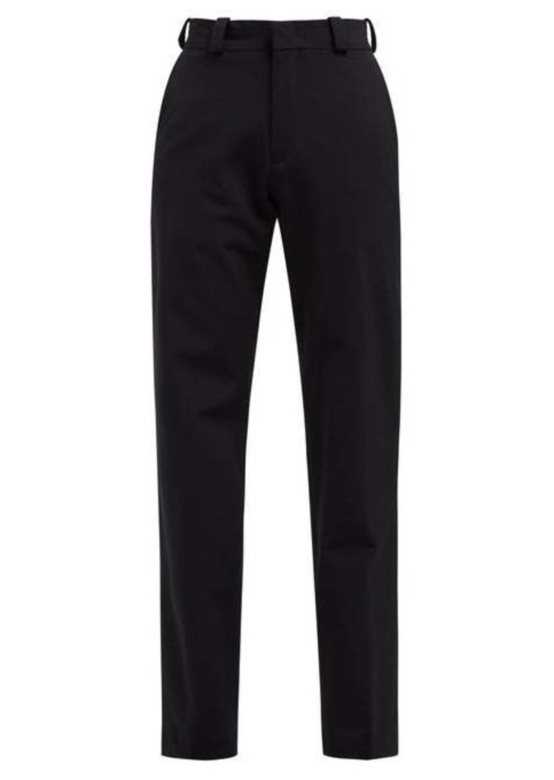 Vetements High-rise twill trousers