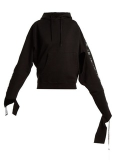 Vetements Hooded tape-trimmed sweatshirt