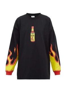 Vetements Hot sauce-print cotton-jersey sweatshirt