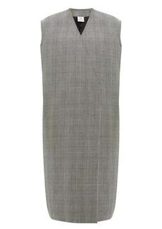 Vetements Houndstooth single-breasted sleeveless wool coat