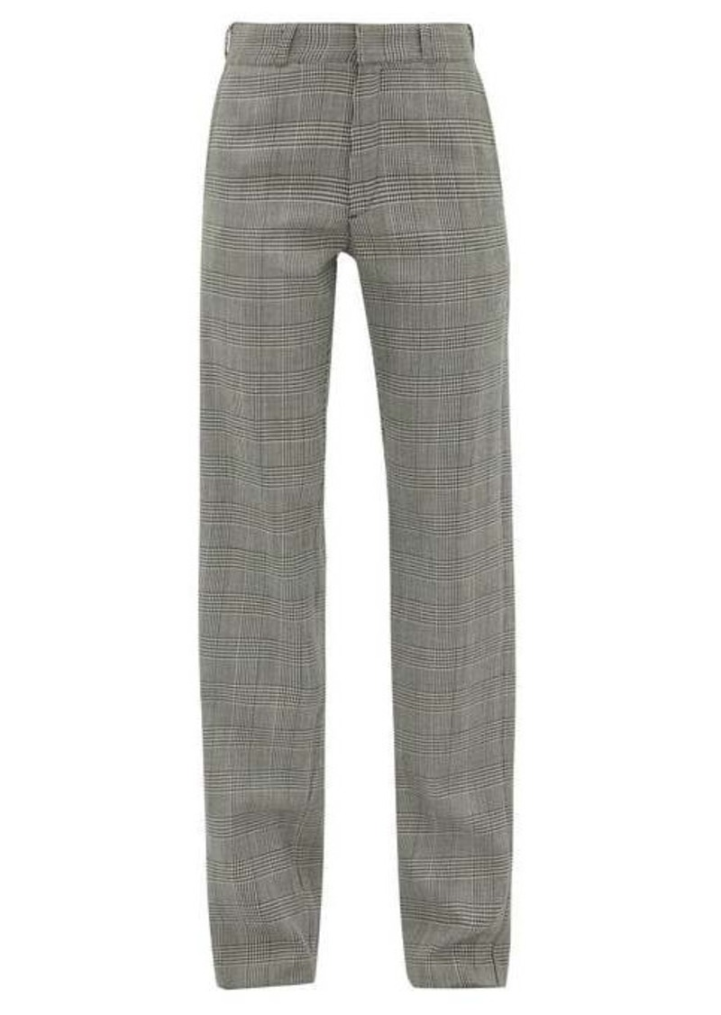 Vetements Houndstooth tailored twill trousers