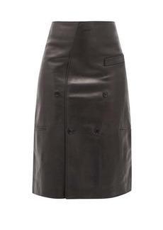 Vetements Leather midi skirt