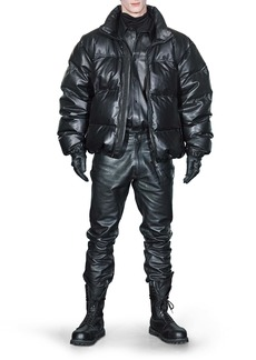 VETEMENTS Leather Puffer Jacket