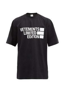 Vetements Limited Edition logo-print cotton-jersey T-shirt