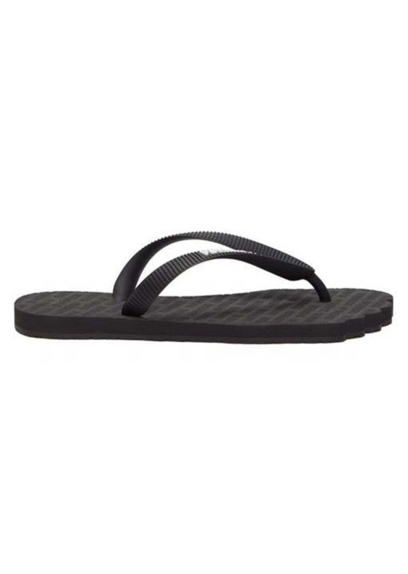 Vetements Foot-shaped logo-embossed rubber flip flops