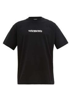 Vetements Logo-patch cotton T-shirt