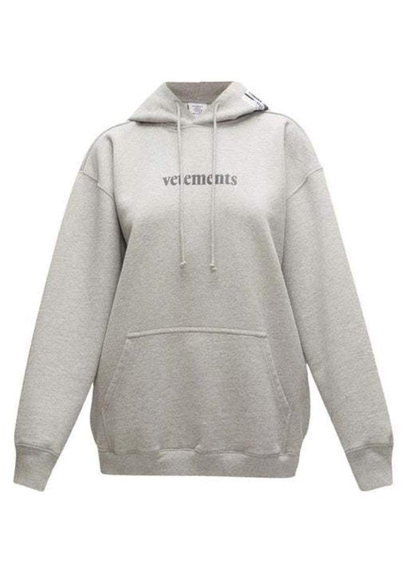 Vetements Logo-print cotton-blend jersey hooded sweatshirt