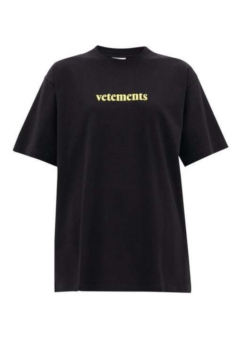 Vetements Logo-print cotton T-shirt