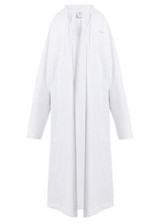 Vetements Logo-print oversized cotton hooded sweatshirt