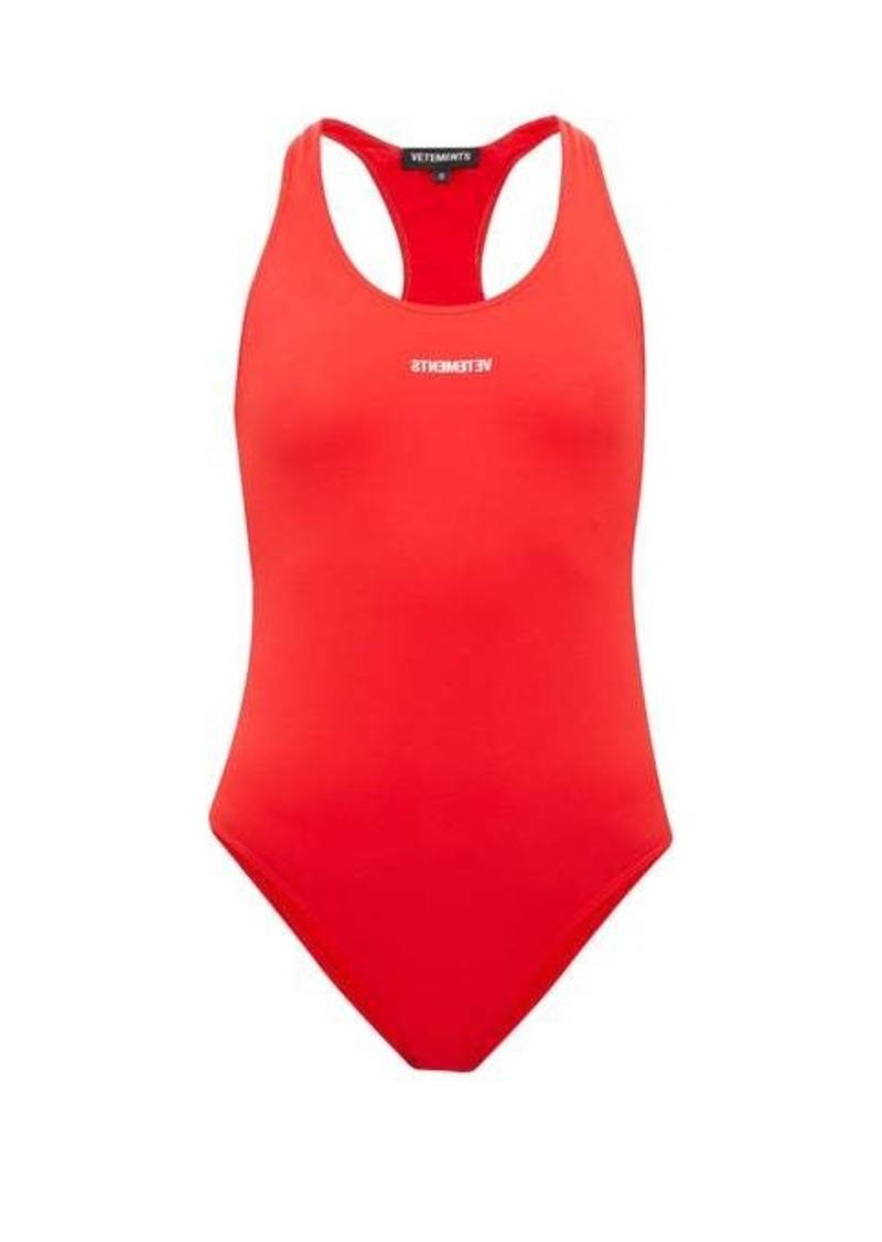 Vetements Logo-print sleeveless bodysuit