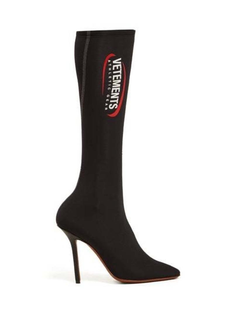 Vetements Logo-print sock boot