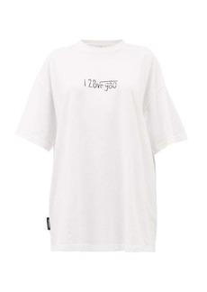 Vetements Love Formula cotton T-shirt