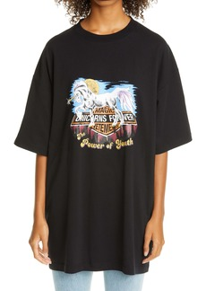 Vetements Magic Unicorn Graphic Cotton Tee