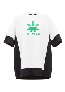 Vetements Maria double-layer logo-print T-shirt dress