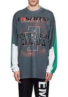 Vetements Men's Colorblocked Cotton Oversized T-Shirt