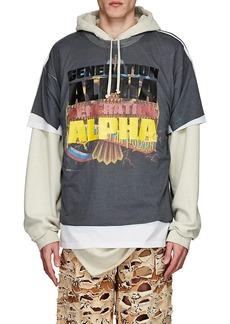 """Vetements Men's """"Generation Alpha"""" Cotton Oversized T-Shirt"""