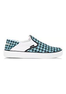 Vetements Men's Houndstooth Canvas Slip-On Sneakers