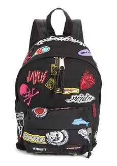 Vetements Mini Embroidered Sticker Backpack
