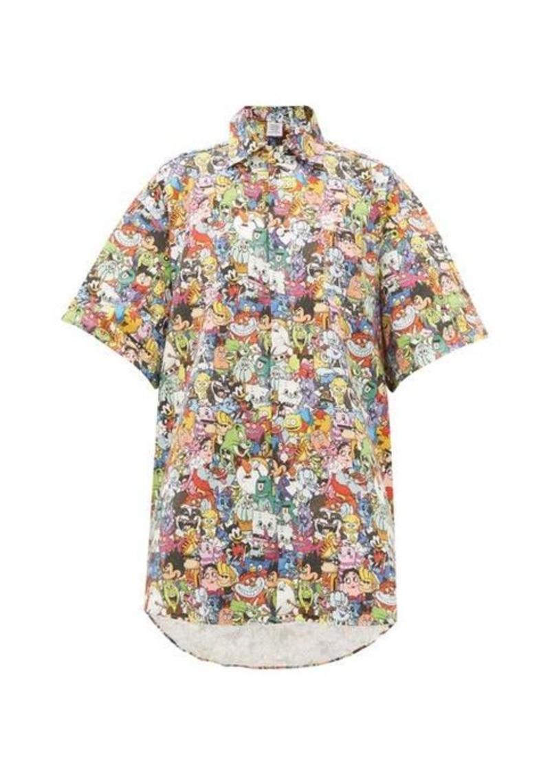 Vetements Monster-print cotton shirt