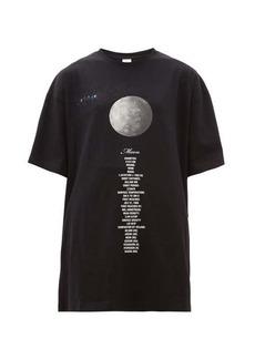 Vetements Moon oversized cotton-jersey T-shirt