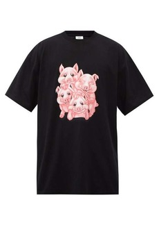 Vetements Naughty Pigs-print cotton-jersey T-shirt