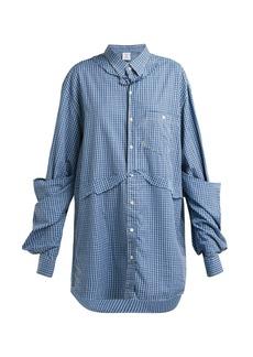 Vetements Oversized checked cotton shirt