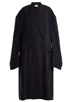 Vetements Oversized double-breasted coat