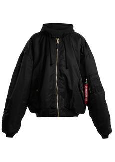 Vetements Oversized hooded bomber jacket