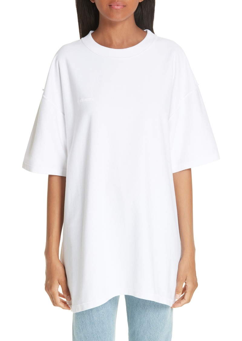 Vetements Oversized Inside Out Tee (Unisex)