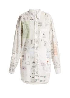 Vetements Oversized receipt-print cotton shirt