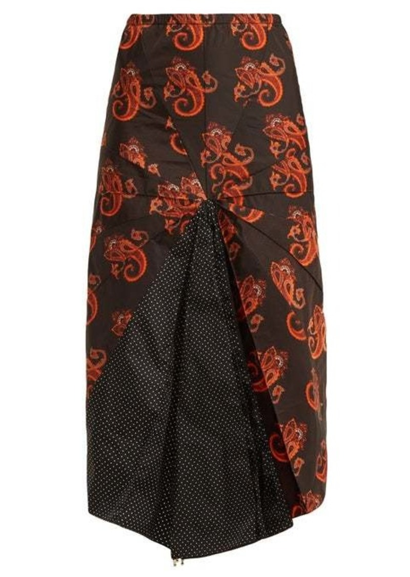 Vetements Paisley and polka dot-print umbrella skirt
