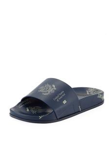 Vetements Passport-Print Pool Slide Sandals