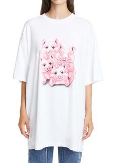 Vetements Pig Oversize Cotton Graphic Tee
