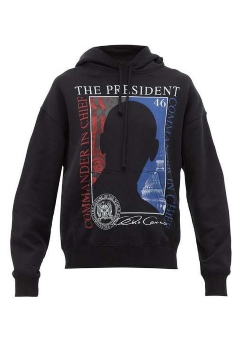 Vetements President-print hooded sweatshirt
