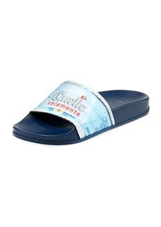 Vetements Quelle Printed Slide Pool Sandals