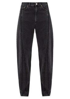 Vetements Raw-edge panelled straight-leg jeans