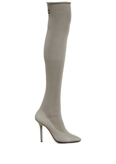 Vetements Reflective thigh-high sock boots