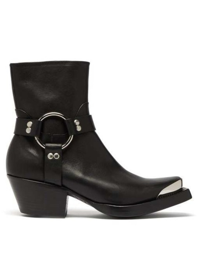 Vetements Ring and stirrup leather Western boots