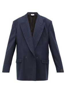 Vetements Slit-sleeve double-breasted check wool blazer