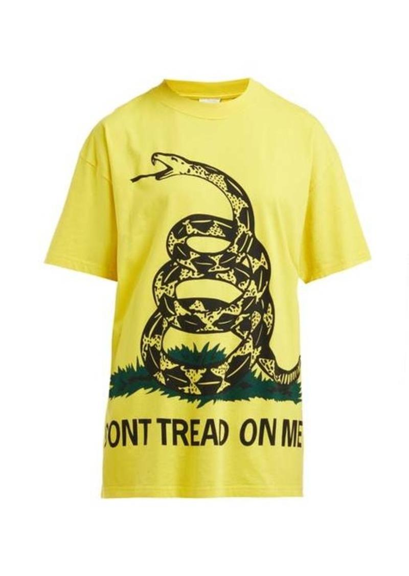 Vetements Snake-print cotton T-shirt
