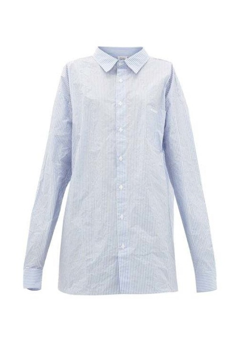 Vetements Striped paper-poplin shirt