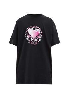 Vetements Valentines-print jersey T-shirt