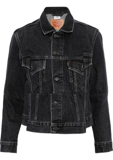 Vetements Woman Faded Denim Jacket Black