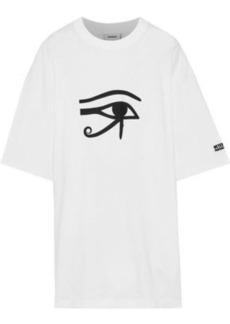 Vetements Woman Oversized Printed Cotton-jersey T-shirt White