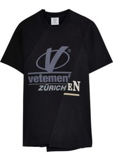 Vetements Woman Printed Cotton-jersey T-shirt Black