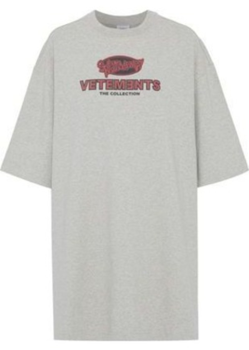 Vetements Woman Printed Cotton-jersey T-shirt Stone