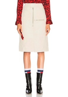 VETEMENTS Workwear Leather Midi Skirt